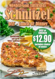 Mon Thu Schnitzel Day